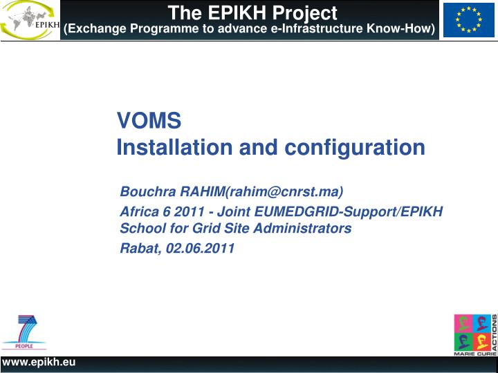 Voms installation and configuration