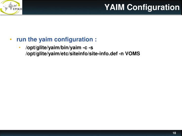 YAIM Configuration