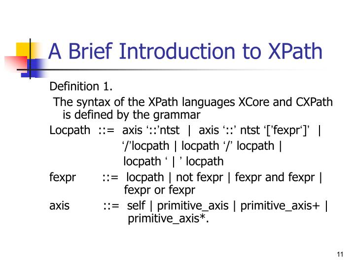 A Brief Introduction to XPath