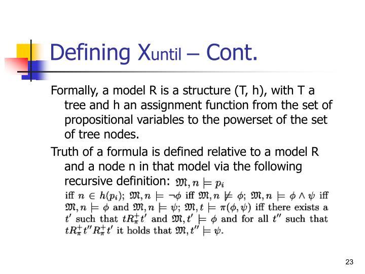 Defining X