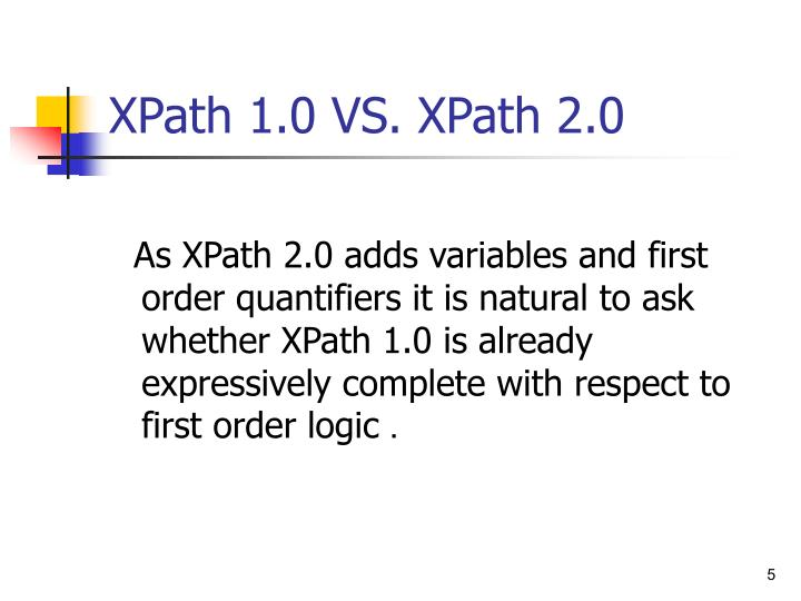XPath 1.0 VS. XPath 2.0