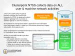 clusterpoint ntss collects data on all user machine network activities