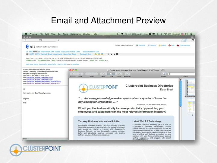 Email and Attachment Preview