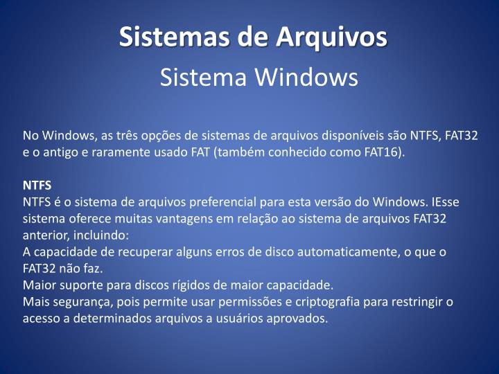 Sistema Windows
