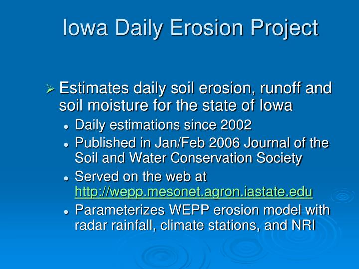 Iowa Daily Erosion Project
