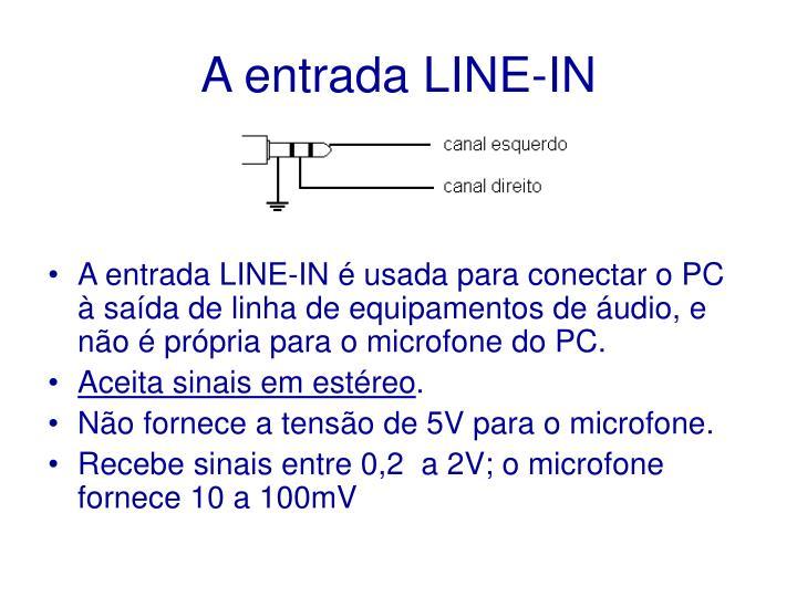A entrada LINE-IN