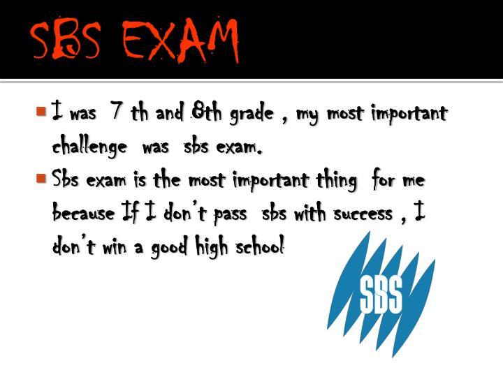 SBS EXAM