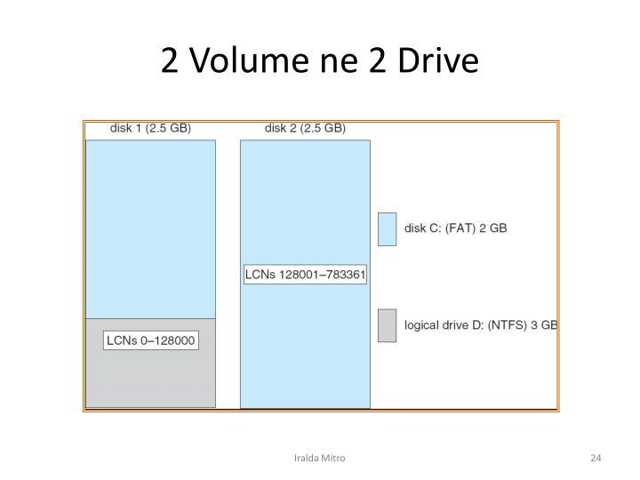 2 Volume ne 2 Drive