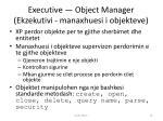executive object manager ekzekutivi manaxhuesi i objekteve