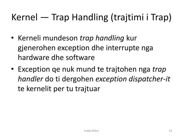 Kernel — Trap