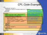 cpl code example