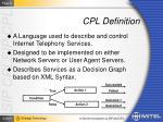 cpl definition
