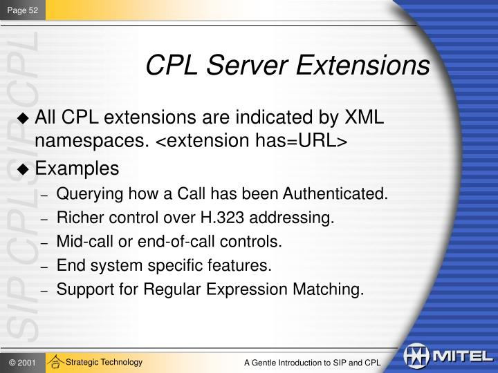 CPL Server Extensions