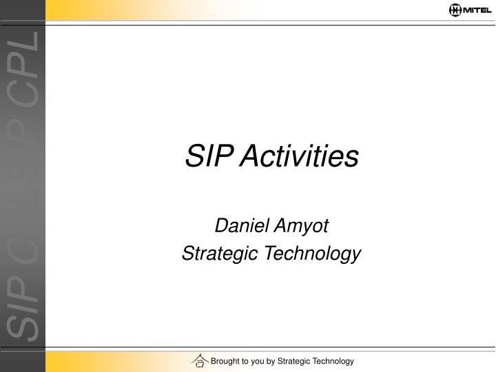 SIP Activities
