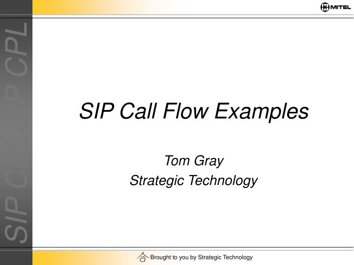SIP Call Flow Examples