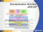 standardization activities jain sip1