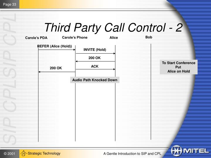 Third Party Call Control - 2