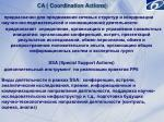 ca coordination actions