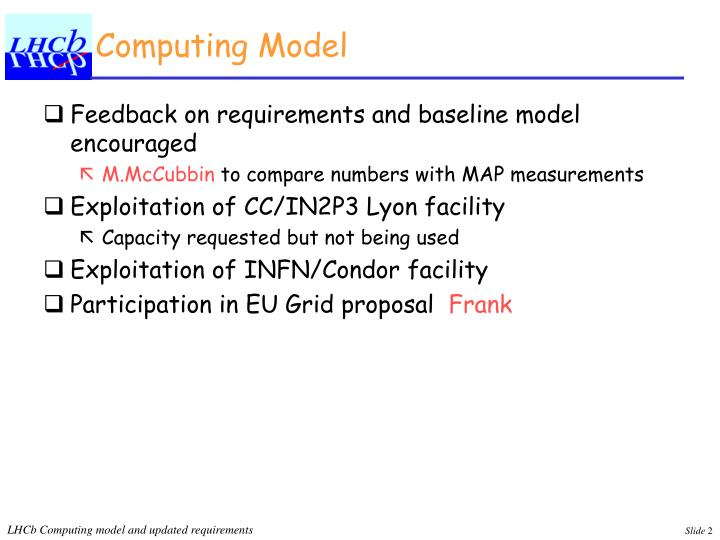 Computing Model
