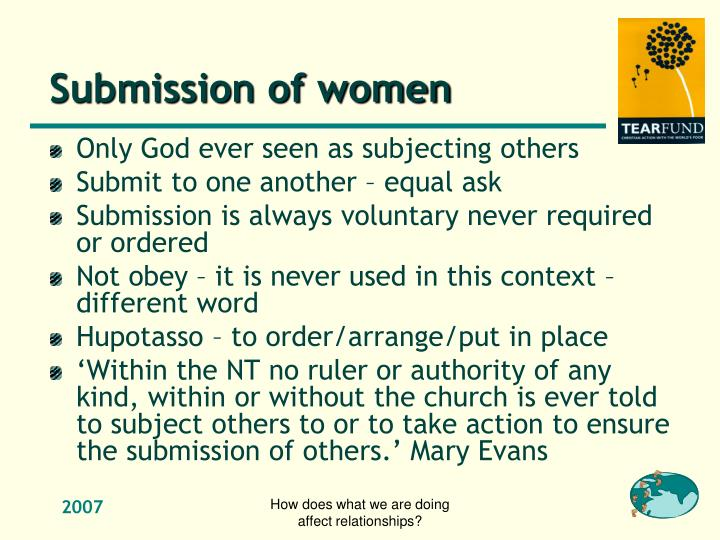 Submission of women
