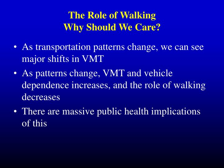 The Role of Walking