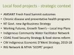local food projects strategic context