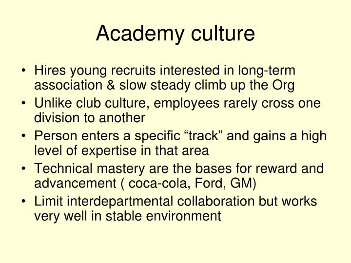 Academy culture
