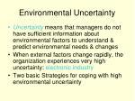 environmental uncertainty