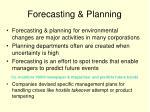 forecasting planning