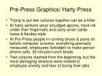 pre press graphics harty press