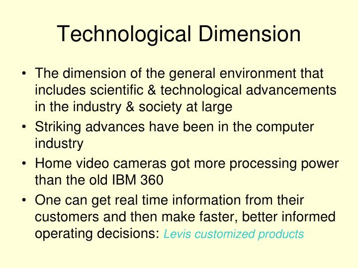 Technological Dimension