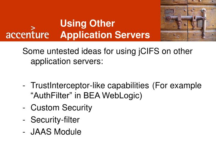 Using Other Application Servers