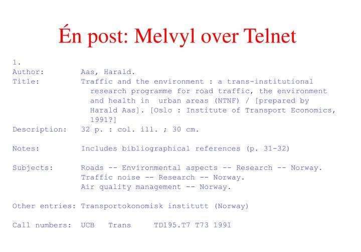 Én post: Melvyl over Telnet