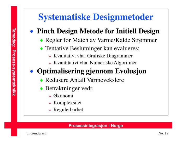 Systematiske Designmetoder