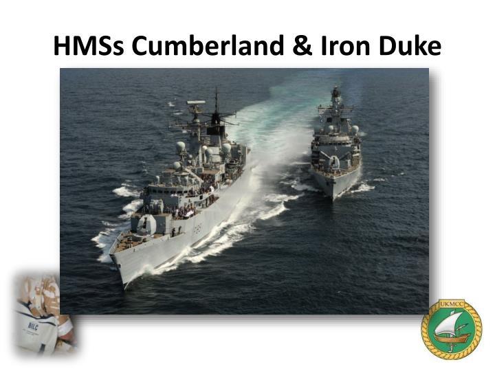 HMSs Cumberland & Iron Duke