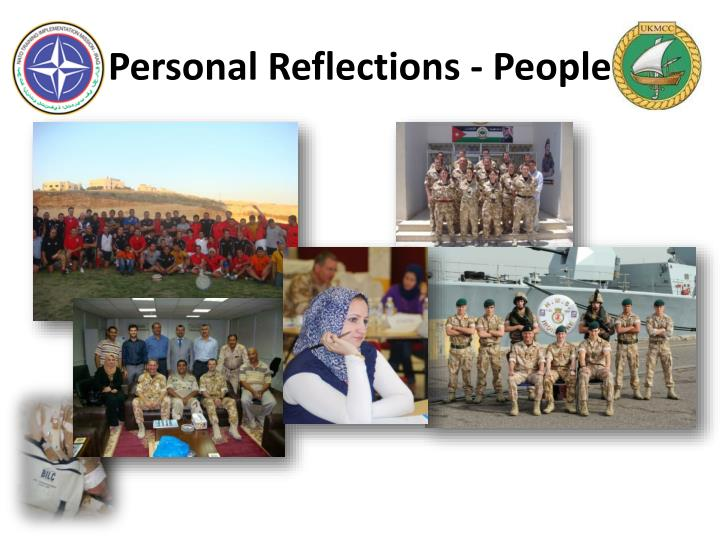 Personal Reflections - People