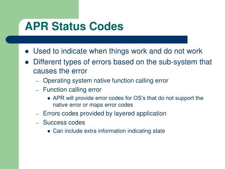 APR Status Codes