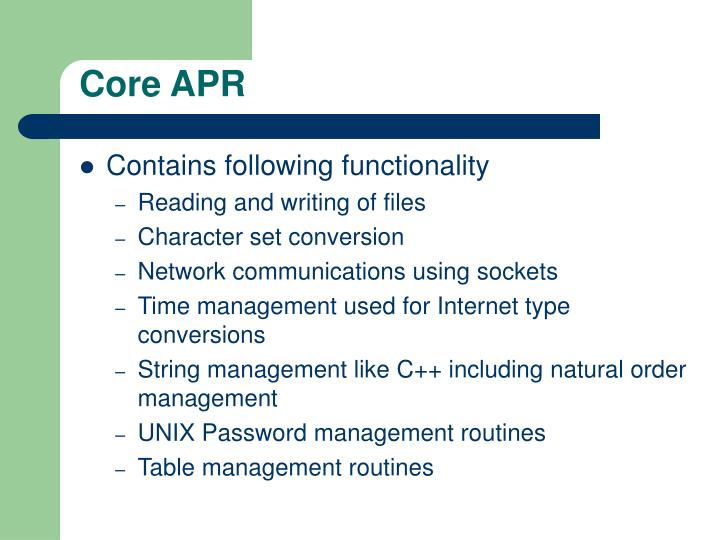 Core APR