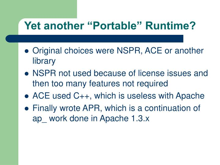"Yet another ""Portable"" Runtime?"