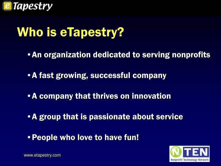 Who is eTapestry?