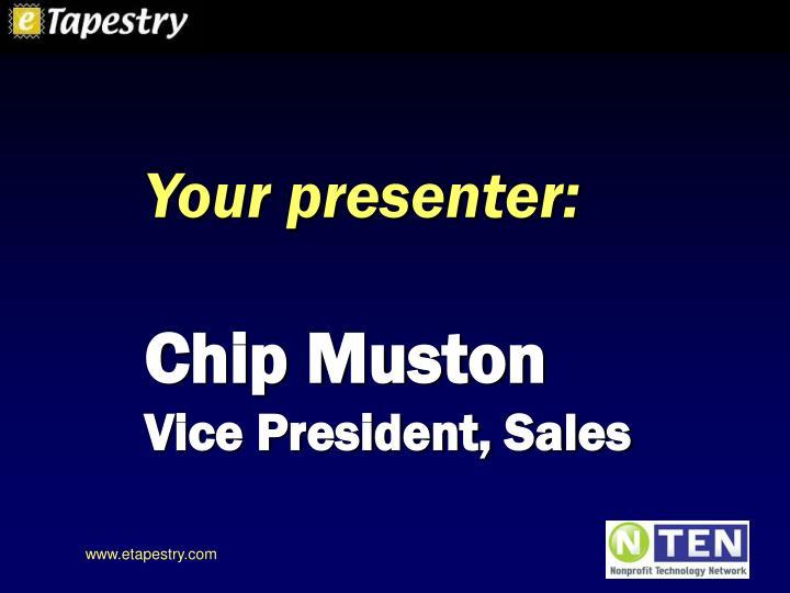Your presenter: