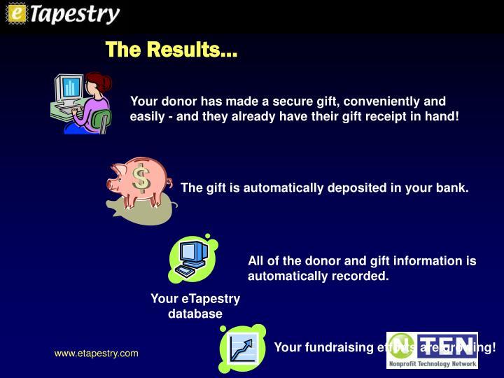 Your eTapestry database
