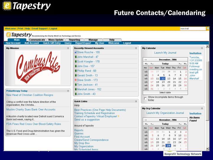 Future Contacts/Calendaring