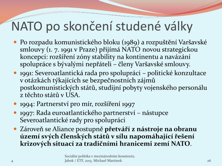 NATO po skončení studené války