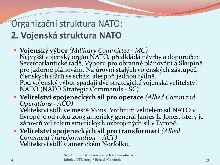 Organizační struktura NATO: