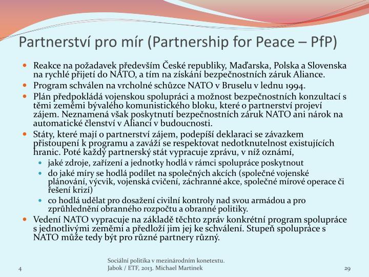 Partnerství pro mír (