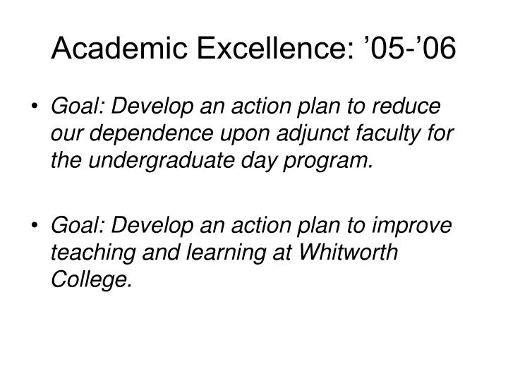 Academic excellence 05 06