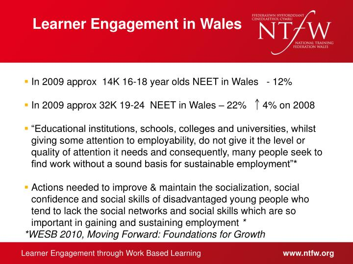 Learner Engagement in Wales