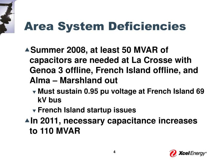 Area System Deficiencies