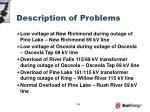 description of problems